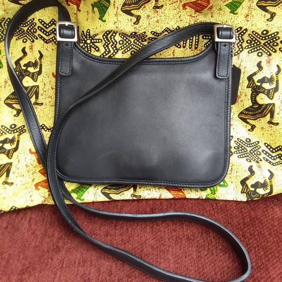 Coach Handbags - COACH LEGACY HIPPIE BLACK LEATHER FLAP CROSSBODY